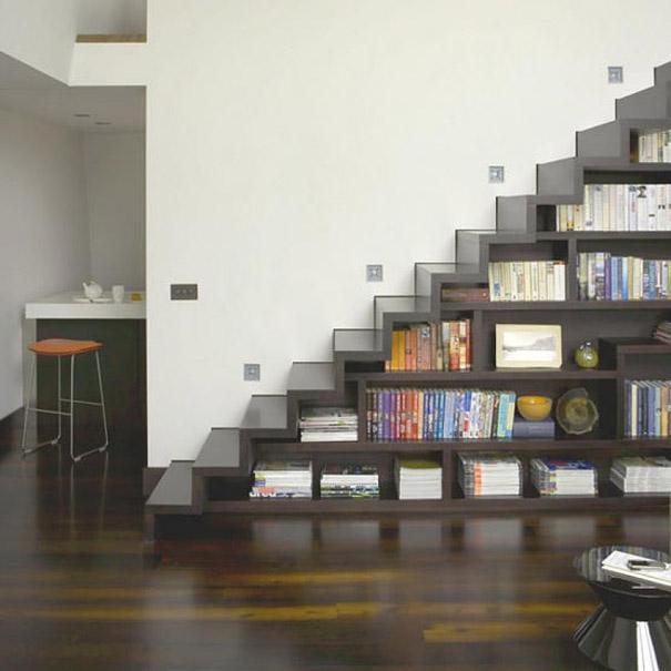 Escaleras internas modernas f s s t u d i o d e s i g n - Escaleras para bibliotecas ...