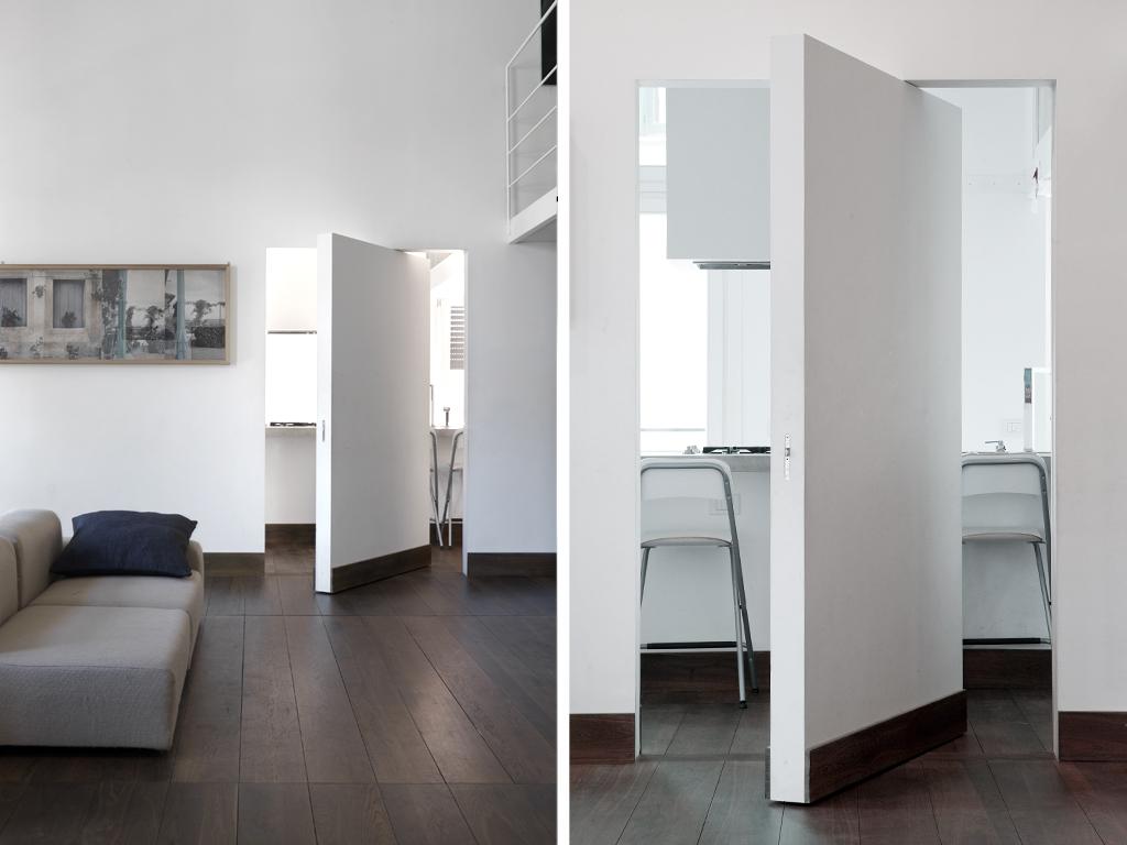 Scrigno La Porta E Essential : La puerta esta pero no se ve… puertas al ras de pared