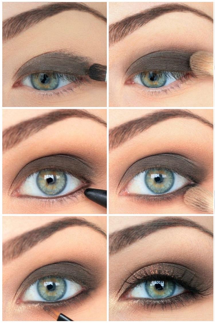 Макияж глаз вечерний для серых глаз пошаговый