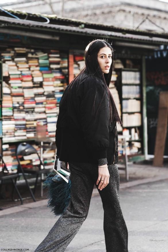 Milan_Fashion_Week-Fall_Winter_2015-Street_Style-MFW-Gilda_Ribbed_Trousers-Fur_Bag-Bomber-Sneakers--790x1185
